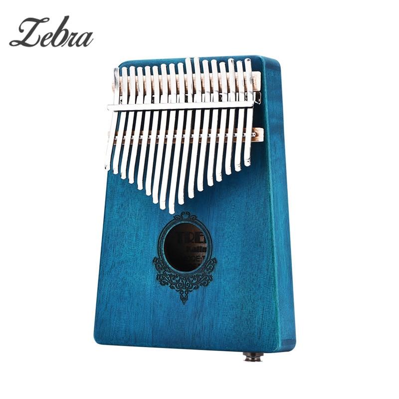 17 Acajou touche Doigt Kalimba Mbira Sanza Piano à pouces Poche Taille Soutenir Sac Clavier Marimba Bois Instrument de musique