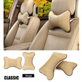 2pcs/lot car neck pillow car auto headrest pillow space silk cotton car seat cover cushion cover car styling 4 color