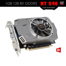 ALSEYE R7 200 Series Video Card R7 240 GPU 1GB 128Bit GDDR5 Graphic Cards for Gaming Desktop PC Support VGA+DVI+HDMI