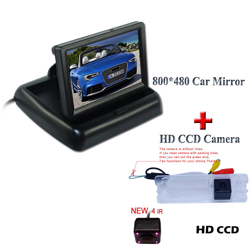 Suitable for Nissan March for Renault Logan for Renaults Sandero car reverse parking kit car reverse camera with 4.3