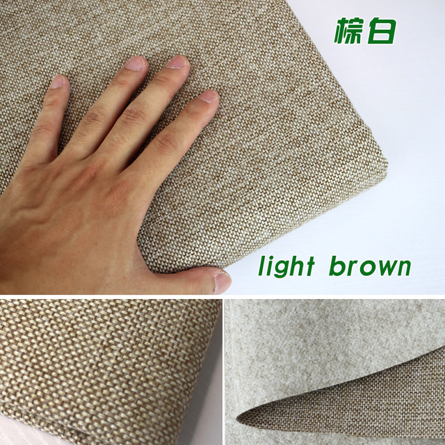 Light Brown Coated Linen Fabric Sofa Cushion Fabirc Craft Sewing Cloth Outdoor Blend Upholstery