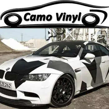 Car Styling Wrapping Black White Grey Vinyl Film Camouflage Car Wrap Sticker Car Body Covers Air Bubble Free