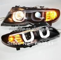 For BMW E46 Head lamp 4 doors Angel Eyes 2001 2004 E46 318 320 323 325 330CI year