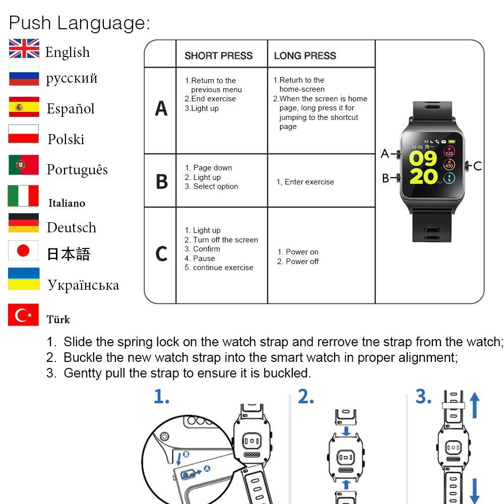 ¡RU/DE/ES en stock! Strava Makibes BR3 hombres GPS relojes inteligentes SmartBand IP68 impermeable rastreador de ejercicios para Xiaomi teléfono MI8 IOS - 6