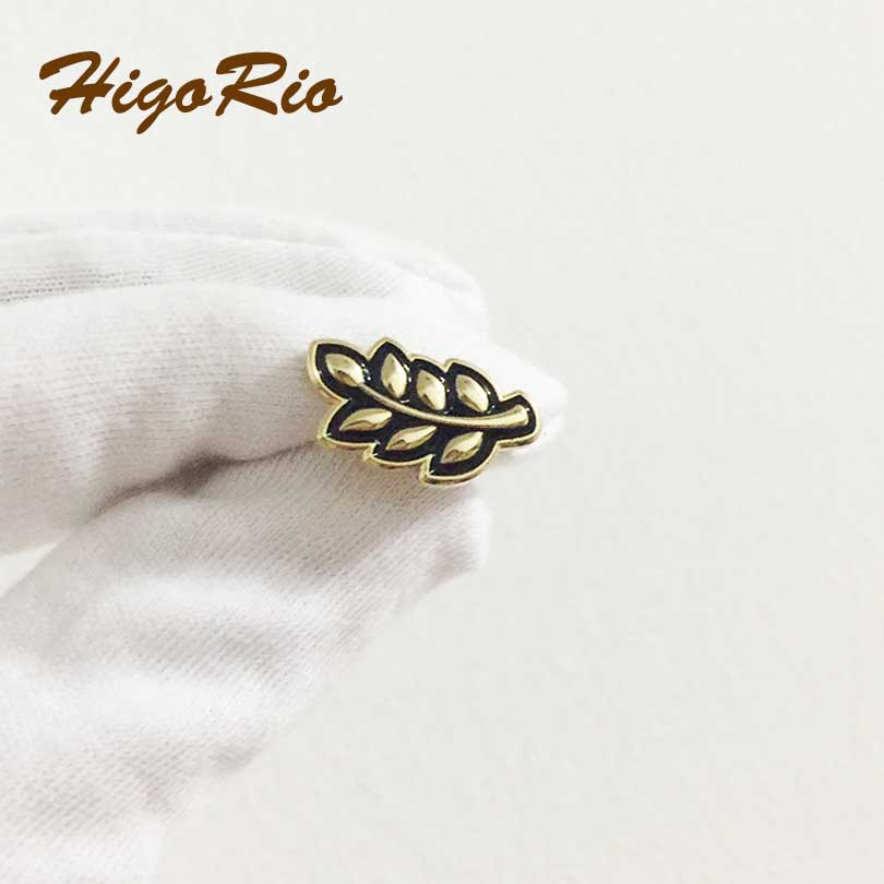 100pcs Custom Pins Badge Freemason Akasha 19mm Sprig of Acacia Hiram Abiff Leaf Lapel Pin Masonic