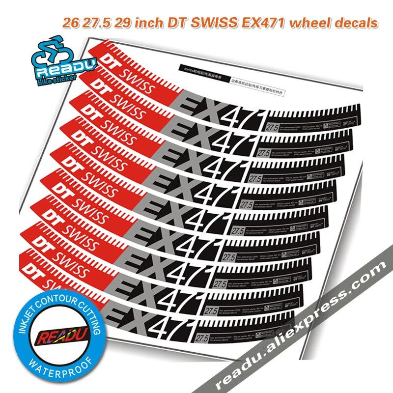 DT SWISS EX471 roues autocollants DT EX471 Montagne vélo vélo roues autocollants pour 26er 27.5 urgences 29 er VTT jantes autocollants
