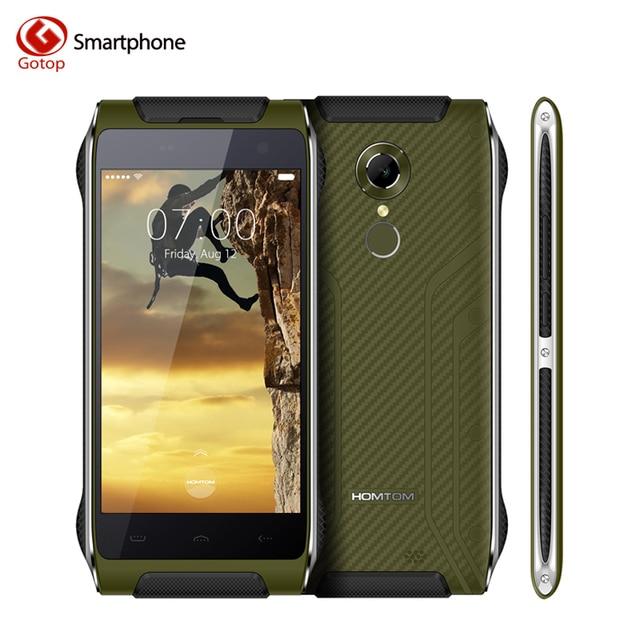 Оригинал Homtom HT20 Смартфон 4.7 Дюймов Android 6.0 MT6737 Quad ядро Мобильного Телефона 2 ГБ RAM 16 ГБ ROM водонепроницаемый IP68 Сотовые телефон