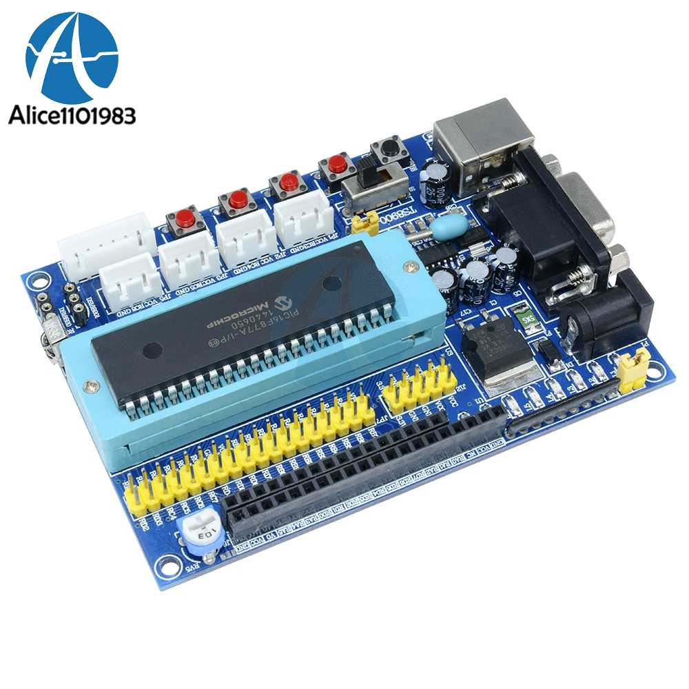 Detail Feedback Questions About 1set Usb Pic Development Board Dc Temperature Sensor Using Pic16f877a Microcontroller 12v Jtag Minimum System Module Max3232 Isp Io