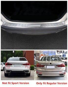 Сталь внешний задний бампер протектор Подоконник отделка 1 шт. для BMW 5 серии G30 2017 2018