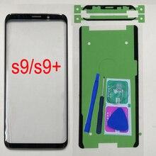Para samsung galaxy s9 g960 g960f telefone original frente exterior painel de vidro para samsung s9 plus g965 g965f substituição da tela de toque