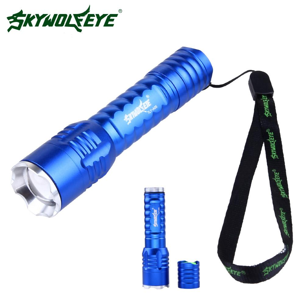 Skywolfeye Zoom Q5 LED Flashlight Torch Light Lamp 3 Modes Mini Torch Outdoor For 1 * 18 ...