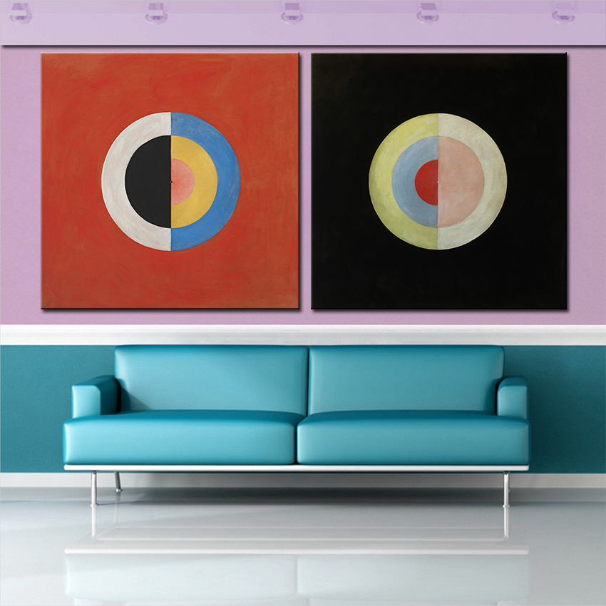 Large size set print oil painting wall painting modern for Large colorful wall art