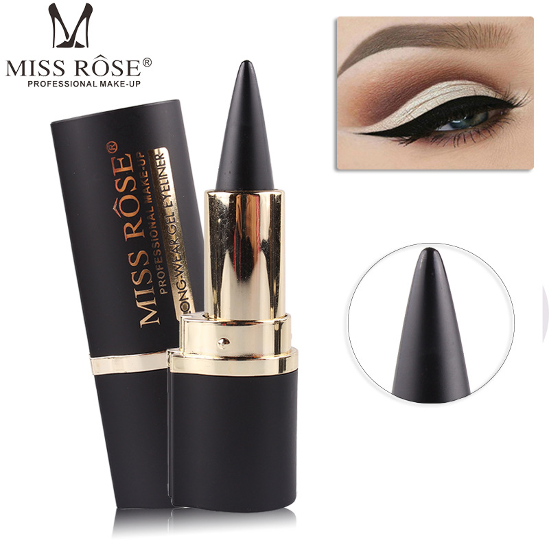 1 Pcs Makeup Waterproof Black Eyeliner Gel Professional Natural Rose Make Up Eyes Tattoo Eyeliner Stickers Miss Free Shipping