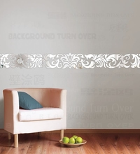 Mirror Wall Stickers Sticker Room Decoration Home Decor For Kids Luxury Retro Vintage Royal Palace Frieze Listello Border R241