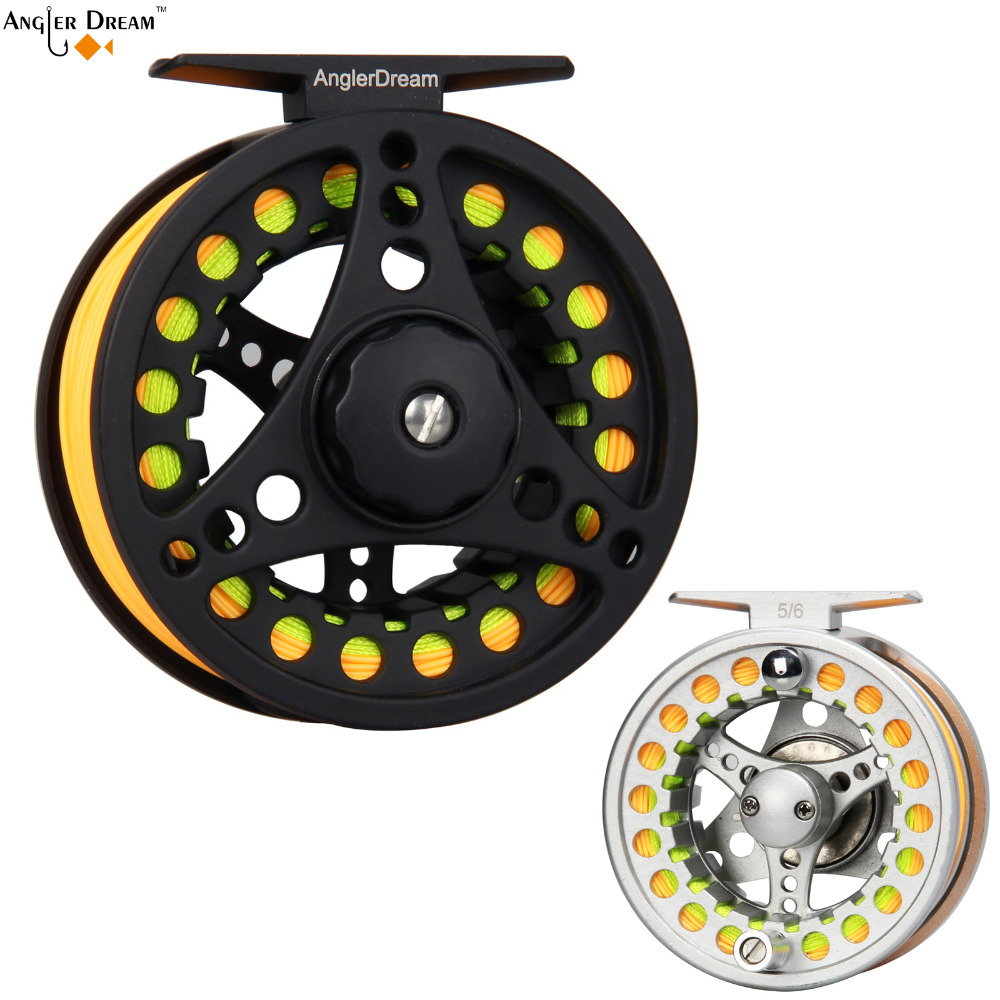3/4 5/6 7/8 WT Fly Reel Combo Large Arbor Aluminum Black / Silver Fly Fishing Reel WF Floating Fly Fishing Line Backing Leader fly fly ff179 black