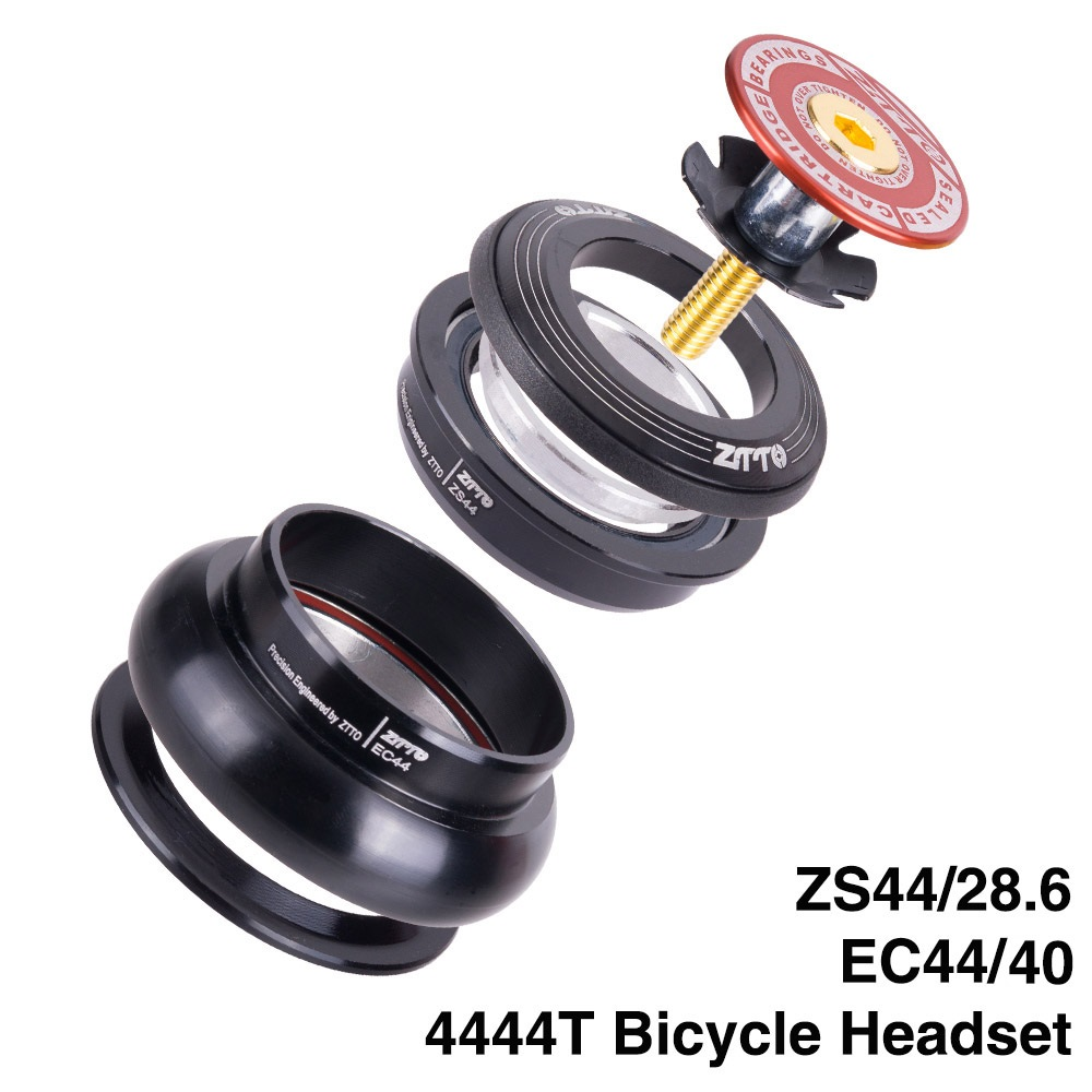 "ZTTO MTB Bike Road Bicycle Headset 4444T 44mm ZS44 CNC 1 1/8""-1 1/2"" 1.5 Tapered Tube fork Internal Threadless EC44 Headset"