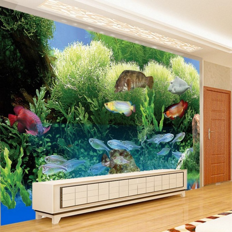 Popular live tropical fish buy cheap live tropical fish for 3d aquarium wallpaper for bedroom