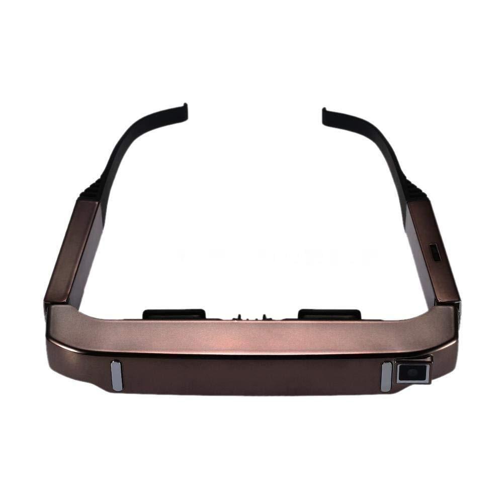 Visão 800 smart android wifi óculos de vídeo portátil de tela larga de 80 polegadas 3d vidros teatro privado com câmera bluetooth mede - 2