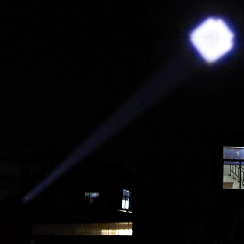USB Handy LED Torch usb Flash Light Pocket LED Flash Light Bike Rechargeable Flashlight Zoomable Lamp For Hunting Black