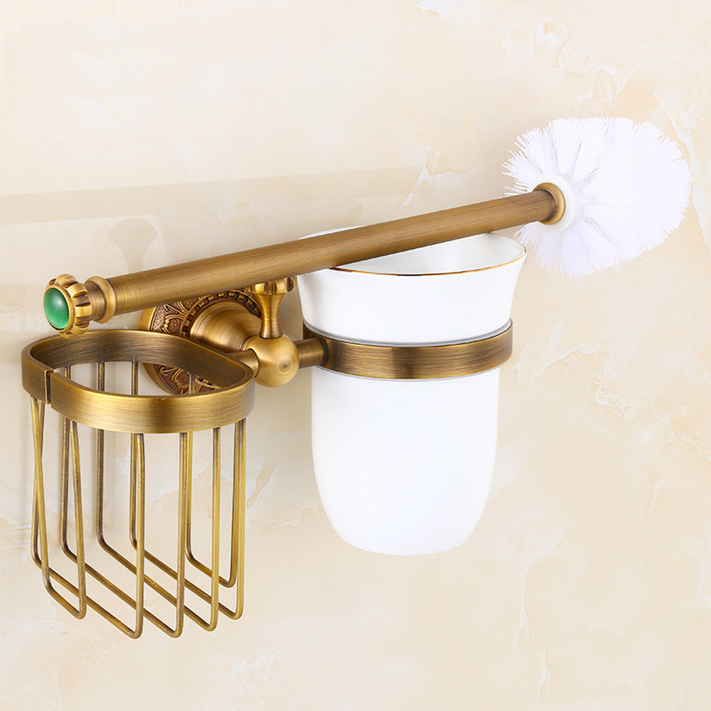 A1 European antique hardware pendant jade toilet brush holder retro toilet brush holder toilet rack bathroom lo731509 antique brass bathroom toilet c eaner brush holder archaize toilet rack holder bathroom hardware accessories toilet brush holder