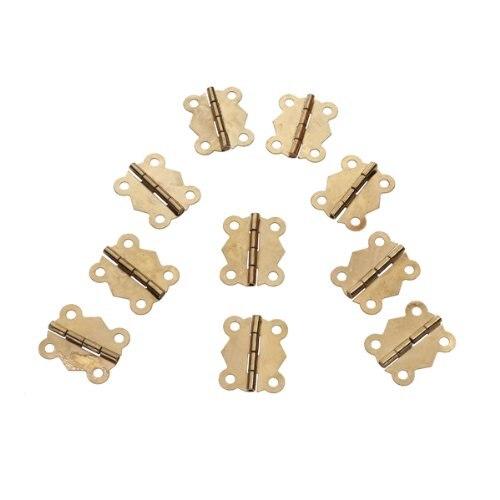 10 Stücke Mini Eisen Schmetterling Scharniere Schublade Tür Rollenband