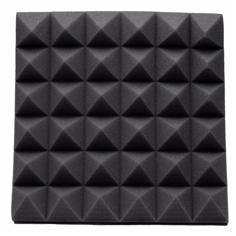 buy newest 30305cm studio acoustic soundproof foam sound absorption treatment panel tile wedge protective sponge from reliable sponge
