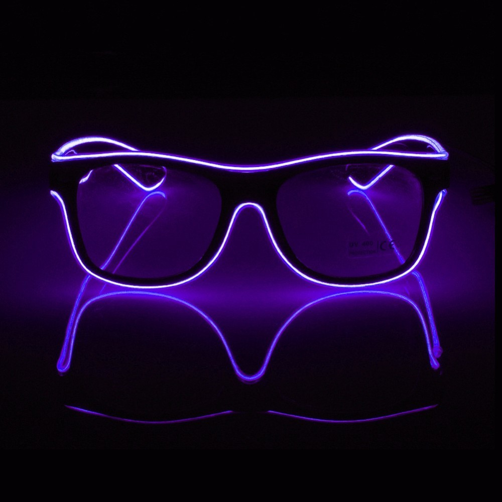 Lights & Lighting Led Strips 2017 New Design 10 Color Sound Active El Wire Neon Led Strip Rave Glowing Glasses Light-up Toys For Halloween,cosplay,wedding Always Buy Good