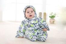 2016 зима Ребенка Комбинезон детская одежда новорожденных комбинезон комбинезон мальчиков одежда Девушки Теплый толстый комбинезон новорожденных девочек одежда