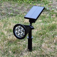 7 LED Solar LED Spot Light Single color super bright waterproof lawn lamp garden ground lamp landscape projection lamp