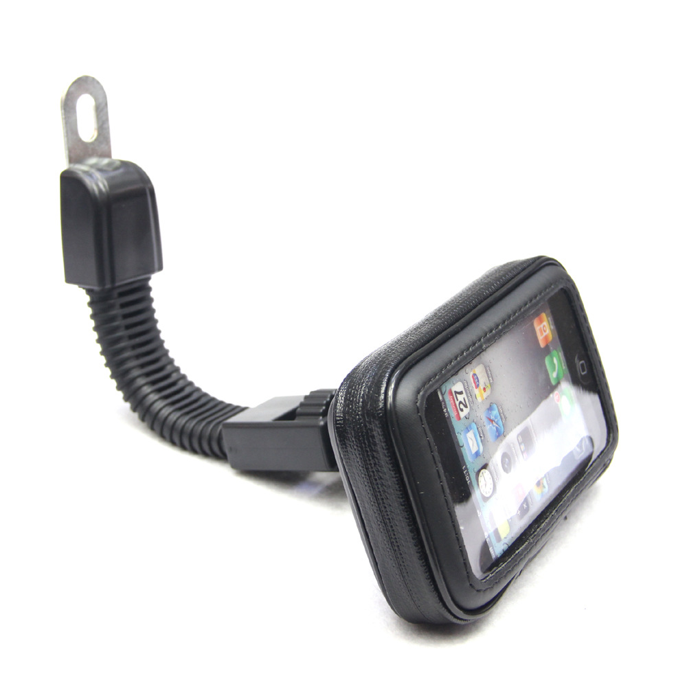 Waterproof Motorcycle Motorbike Scooter Mobile Phone Holder Bag Case for iPhone5 6 7/Samsung etc Rearview Mirror Stand