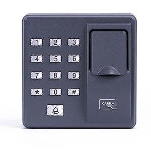 Image 2 - Parmak İzi Erişim Kontrolü Bağımsız Tek Kapı Denetleyici En Ucuz Bağımsız Tuş Takımı Parmak + RFID Kart X6 Kapı Giriş
