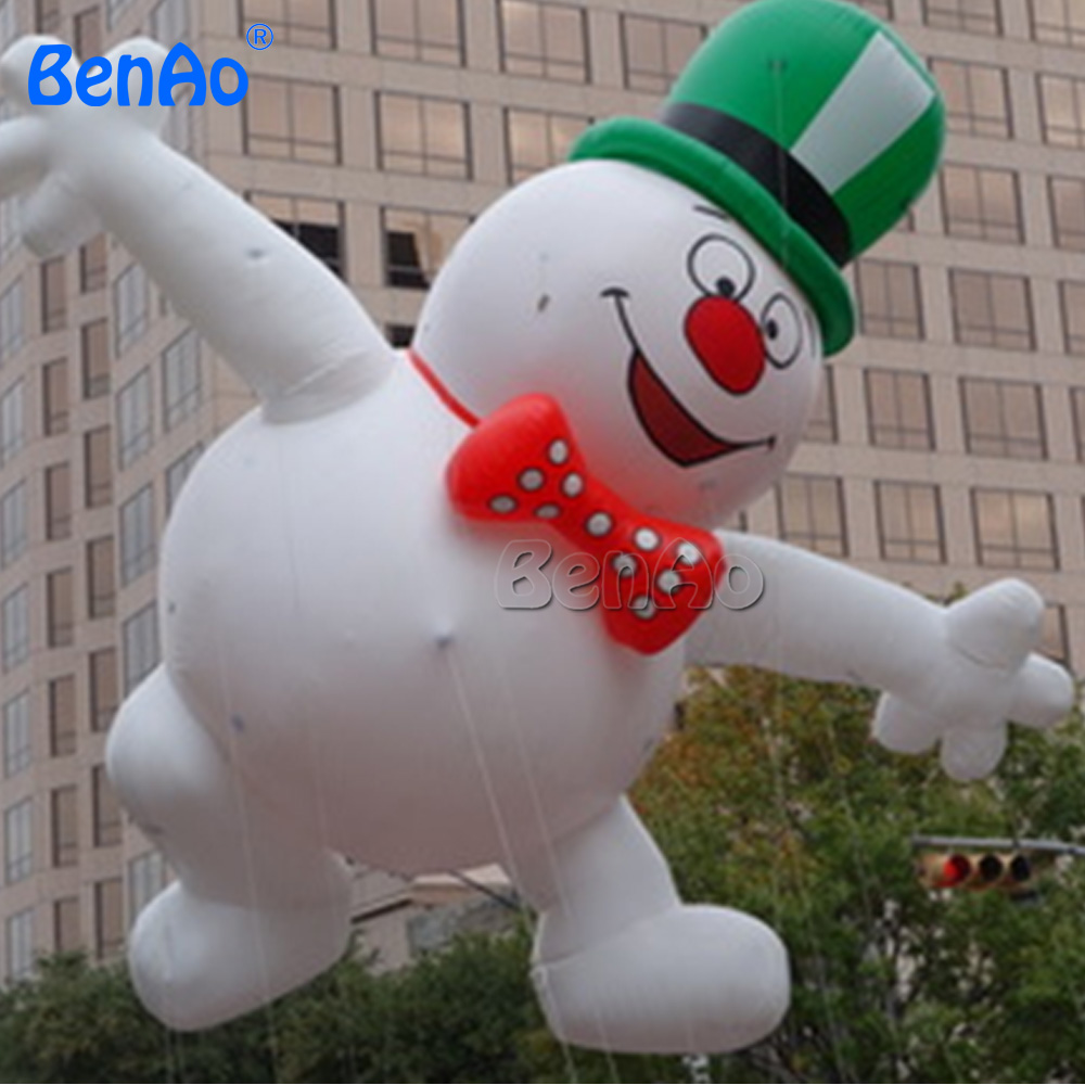 AO231  Christmas decoration inflatable Snowman helium parade balloon with blower/sky helium balloon for advertising events ao058b 2m white pvc helium balioon inflatable sphere sky balloon for sale attractive inflatable funny helium printing air ball