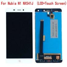 ل ZTE النوبة N1 NX541J شاشة الكريستال السائل مجموعة المحولات الرقمية لشاشة تعمل بلمس أجزاء الهاتف المحمول ل النوبة N1 NX541J شاشة عرض LCD