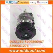 HIGH QUALITY AUTO AC COMPRESSOR DCS17EC FOR RENAULT 8200890987 8200561276