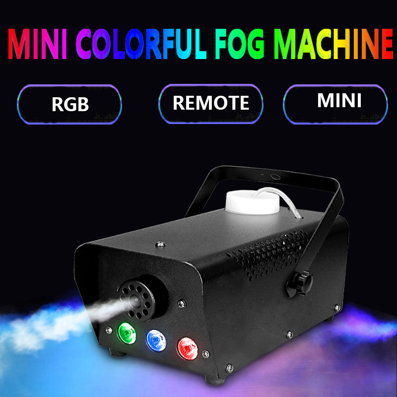 fast shipping disco colorful smoke machine mini LED remote fogger ejector dj Christmas party stage light fog car (7)