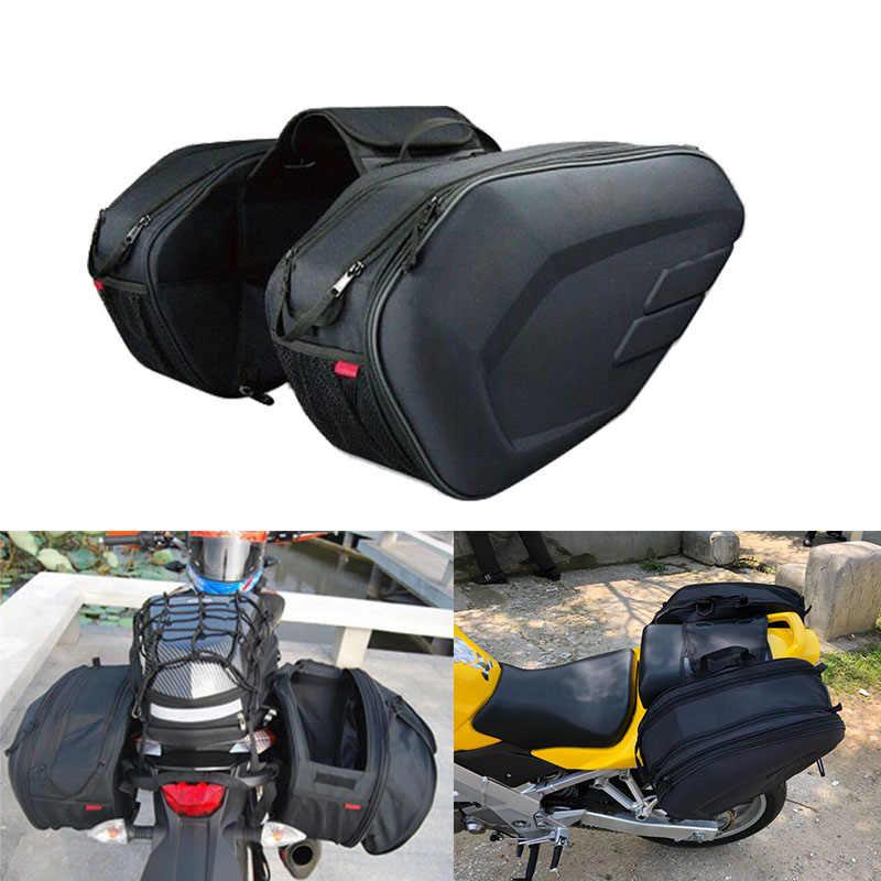 High Quality Waterproof Moto Tail Luggage Suitcase Saddle Bag Motorcycle Side Helmet Riding Travel Bags With Rain Cover