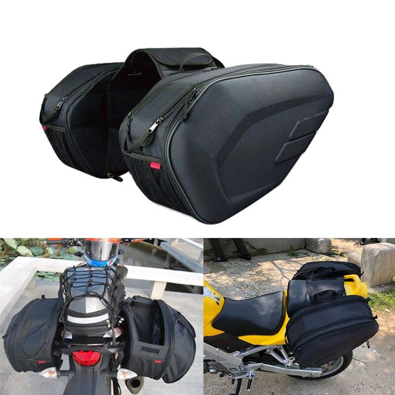 Black//X-Large Tour Master NC 4 Nylon Slant Street Motorcycle Saddle Bags