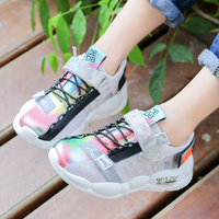 2019 Ins kids sneakers fashions Children's shoes for boy girl Glittering reflection kids shoe girls glowing sneakers