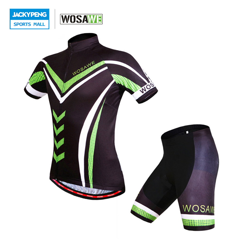 2016 New WOSAWE Pro Men's Cycling Clothing Sets Short Sleeve Jersey & EL Pad Shorts 1/2 Bicycle Bike Pants Ropa Clismo wosawe new men s cycling shorts 4d padded cool gel riding bike cycling clothing