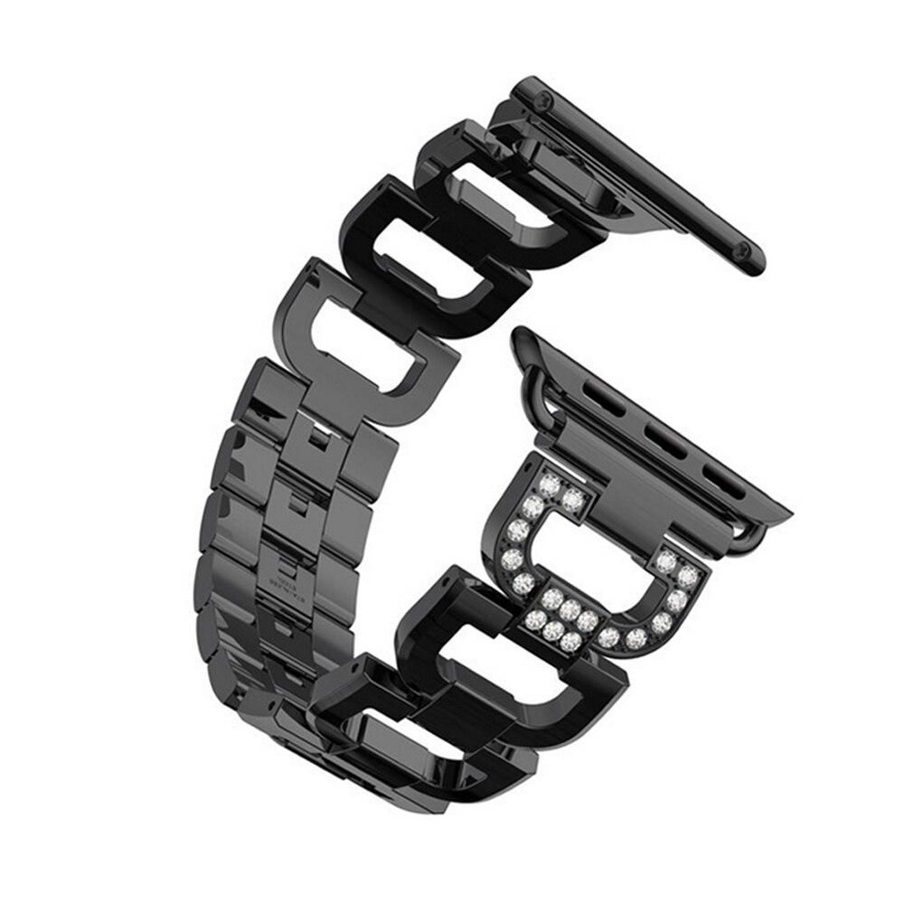 Braccialetto di collegamento della cinghia per apple watch band 42mm/38mm iwatch 3/2/1 in acciaio inox metallo orologio da polso della vigilanza della cinghia accessori