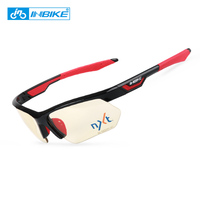 INBIKE 1sec Photochromic Cycling Fishing Sunglasses Bicycle Glasses Sport Skiing Eyewear Mens Bike Speedcraft Protection Goggles