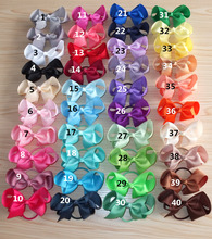 40 Colors Available 4 inch hair bow with elastic bands Loops Kids Girls Ponytail Hair Holder Bows Boutique Hair Bobble bows
