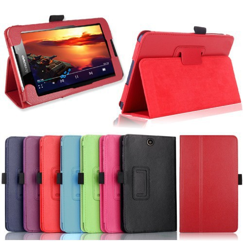 High quality For Lenovo A3500 case Lichee leather case for lenovo 3500 A7-50 tablet PC flip cover cases