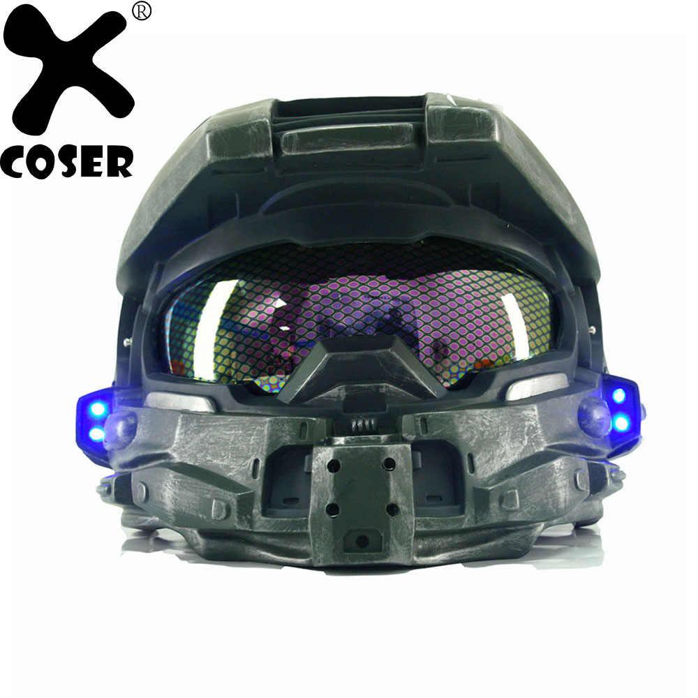 Xcoser Halo 4 Master Chief Helmet Mask Game Cosplay Costume