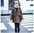 Девушки толстые шерстяные Куртки Корейской версии детская одежда Верхняя Одежда Новый 2016 осенью и зимой большие дети длинное пальто