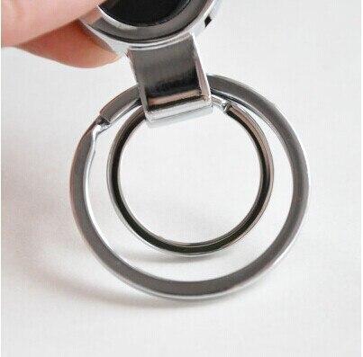 Mbërritje të reja Clips çeliku inox në rripin e Zi Car Keychain - Bizhuteri të modës - Foto 3
