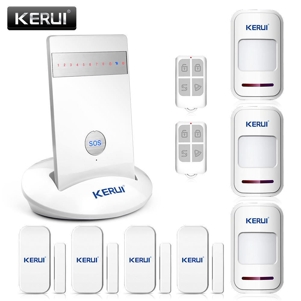 GSM Alarm Systems Security Home Alarm Spanish/French/Russian/English Voice Wireless Door Sensor Alarm IOS Android App Controll