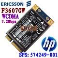 Desbloqueado ericsson f3607gw/para hp módulo hs2330 3g wwan hsdpa 7.2 mbps sps #: 574249-001 wcdma edge 3g/2g tarjeta de red inalámbrica
