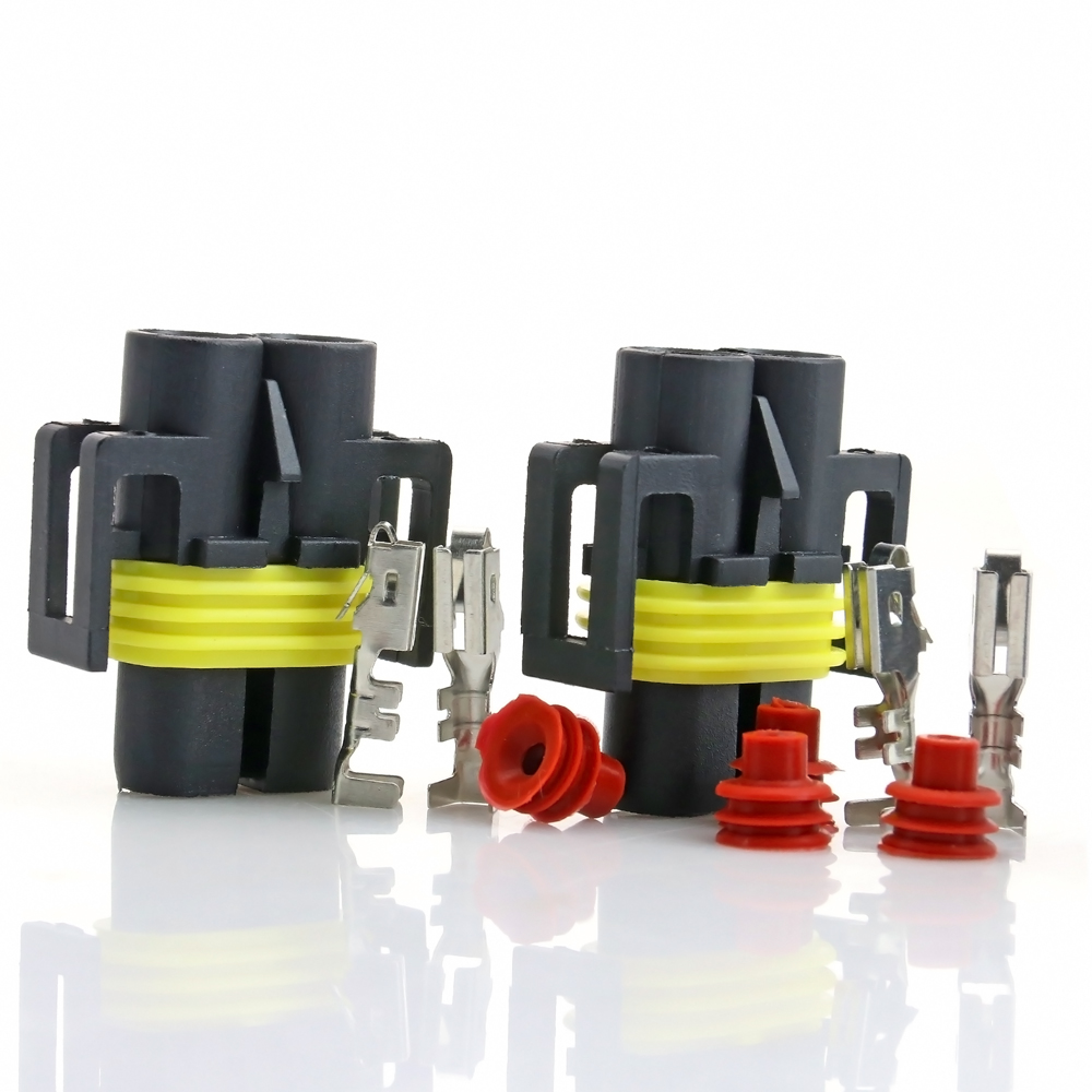 5x H8 H9 H11 H27 880 881 Female HID Halogen Bulb Connector Plug w/Terminal Pins #1642*5