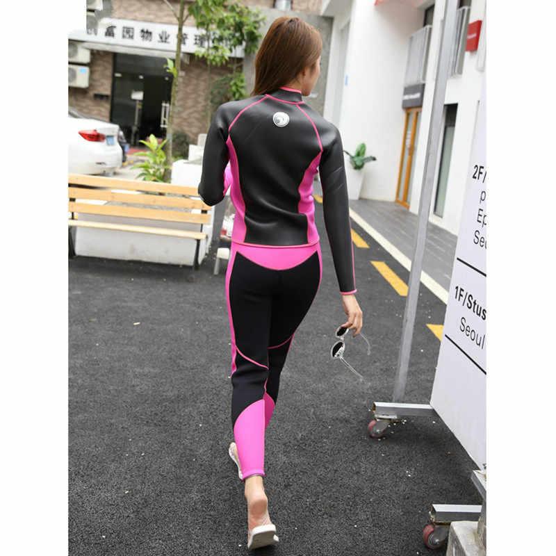 2018 Hisea seac 2.5mm Vrouwen Duikuitrusting bodysuit jas broek Rashguard Panty Neopreen Wetsuit Duiken Jas Lange Broek